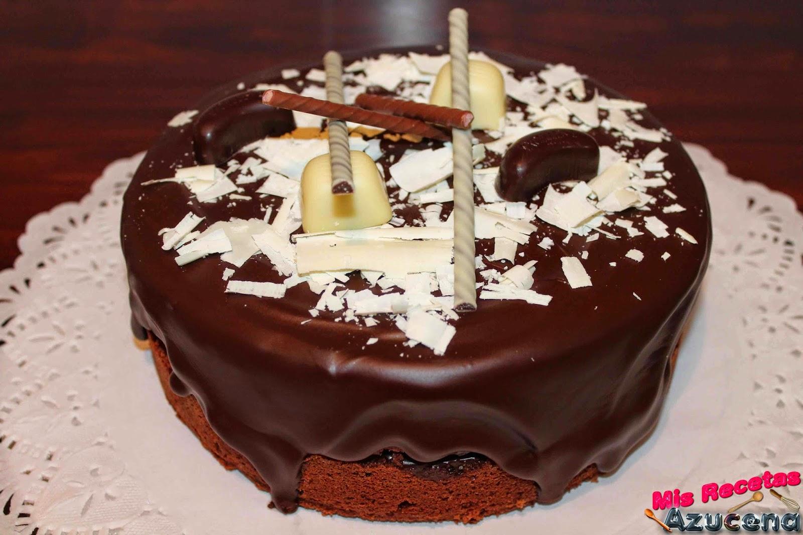 Pastel de chocolate y naranja