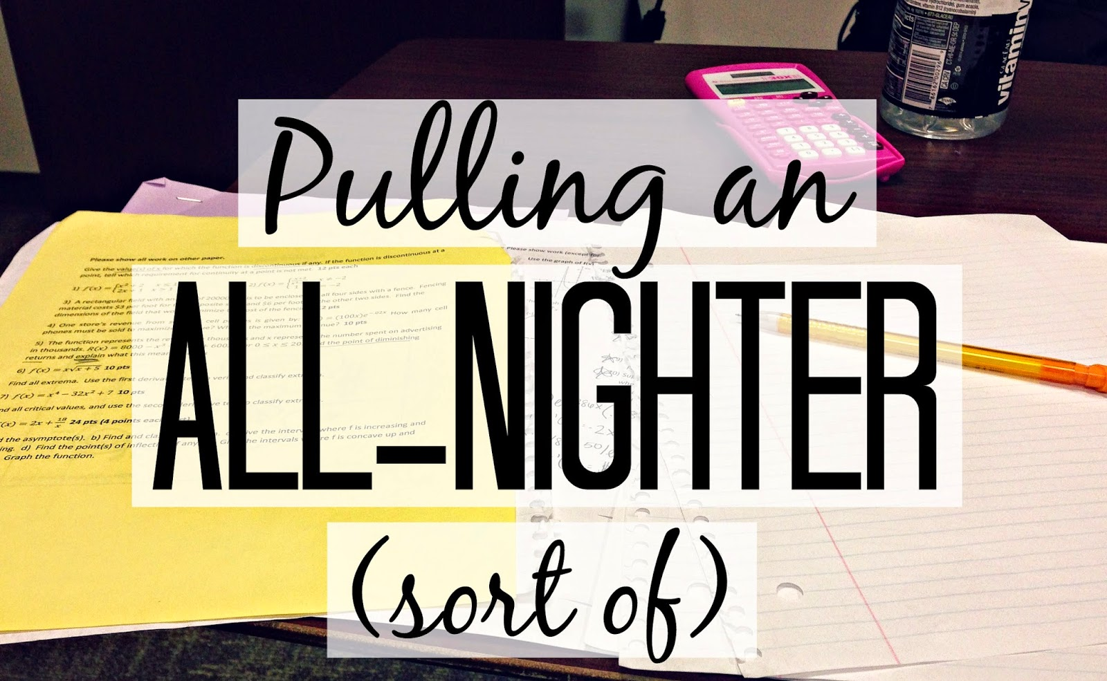 Pulling an All-Nighter - Seekingthesouthblog.blogspot.com