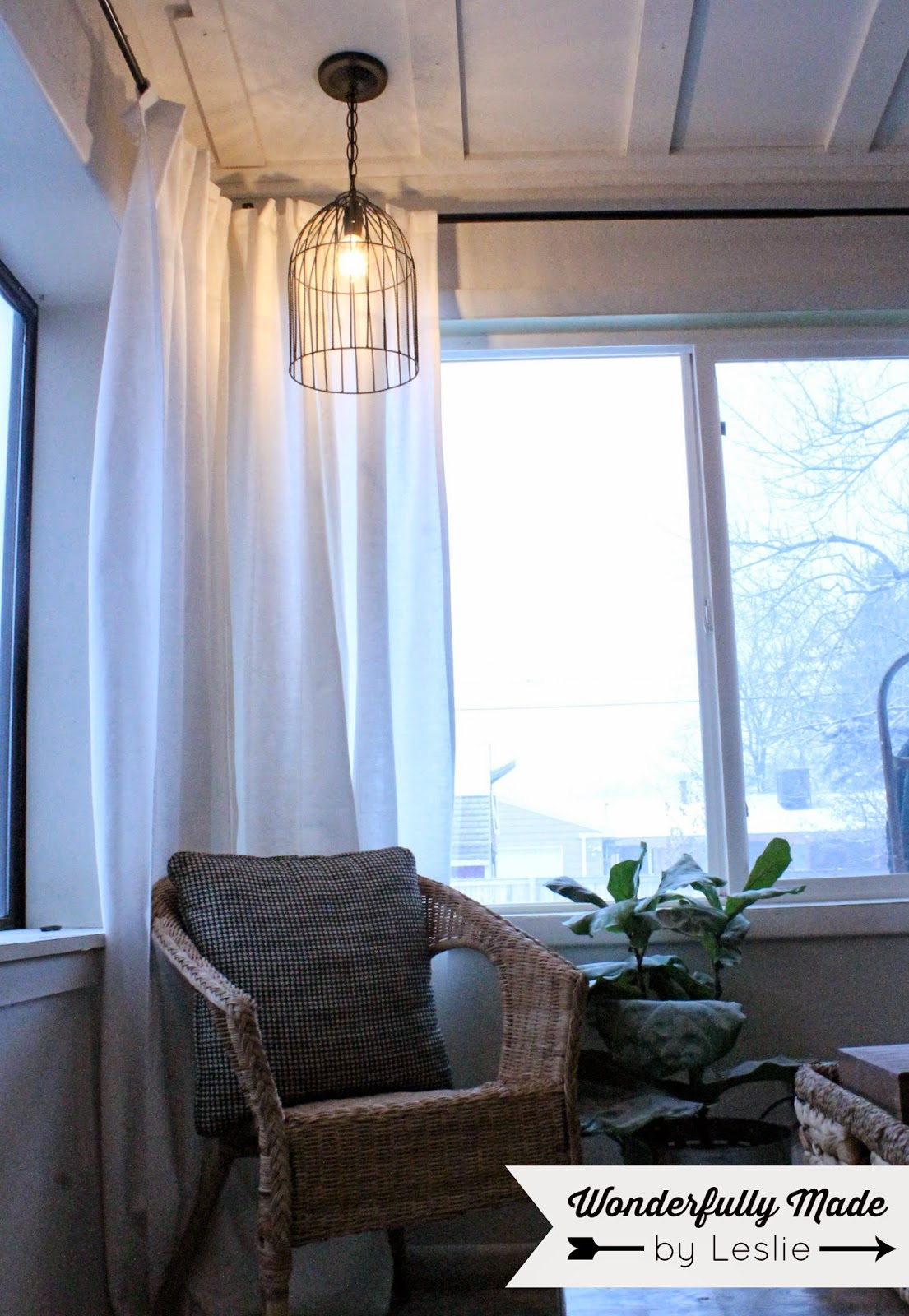 Wonderfully Made: DIY Ceiling Light Fixture