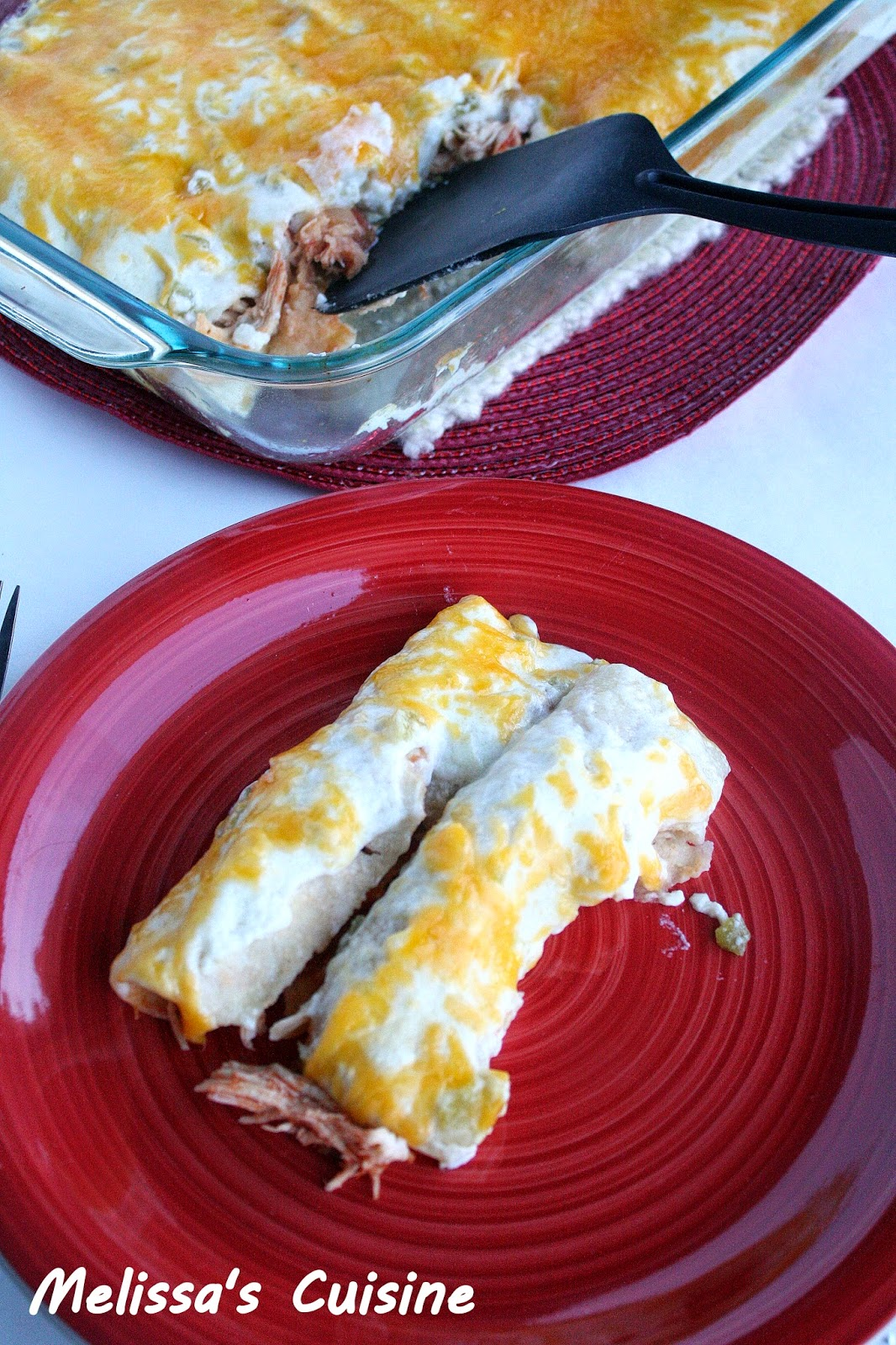Melissa's Cuisine: Clean Eating Chicken Enchiladas
