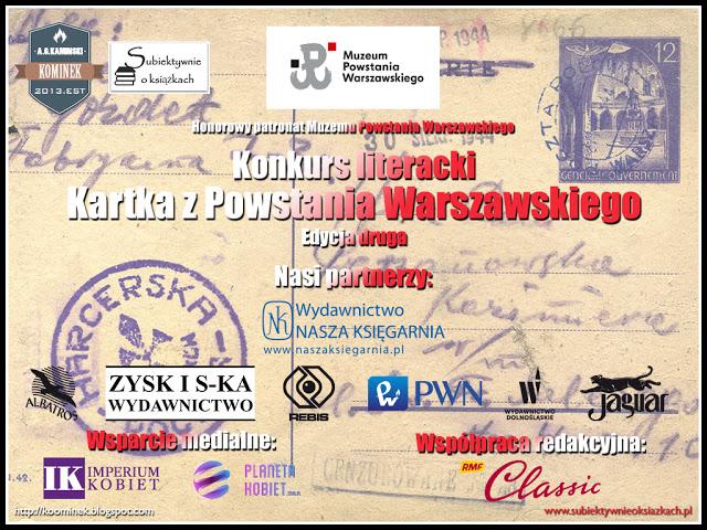 Wyróżnienia w Konkursie literackim - Kartka z Powstania Warszawskiego