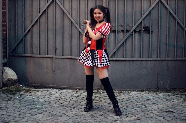 Halloween Outfit: Clown Harley Quinn