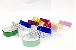 Buy PACK OF 12 GLITTERY COLORED CELLO TAPE IN 6 DIFFERENT COLORS at Flat 77% off at Shopclues