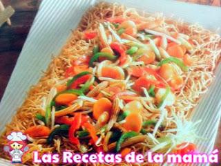Chow mein con verduras