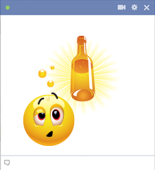 Drunk emoticon