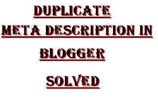 Duplicate Meta Description