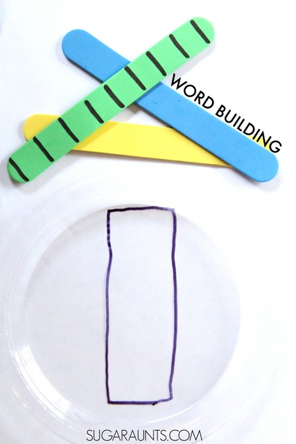 Teaching kids to build words and name with letter order, spatial awareness, and line awareness