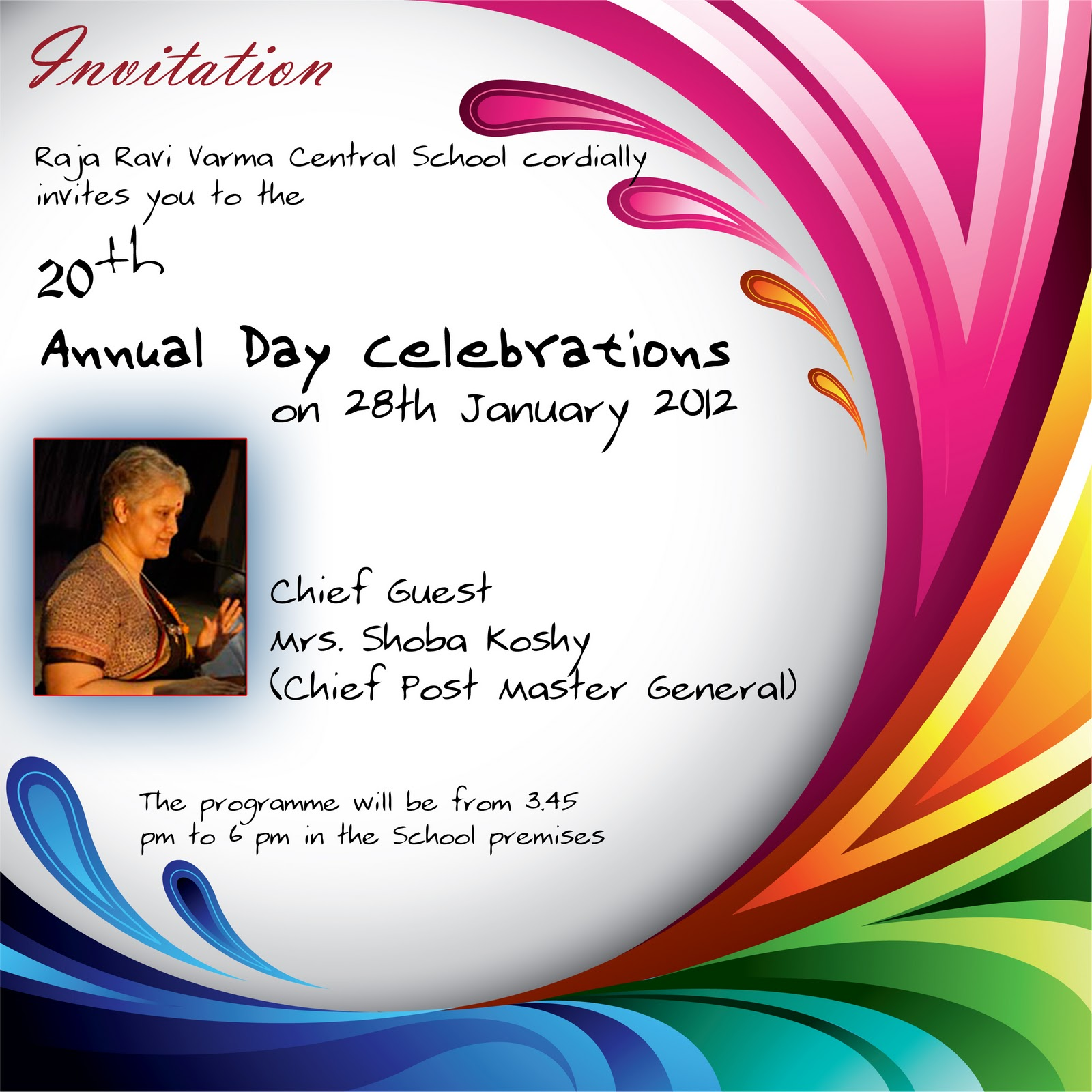 Josh K Best Wishes To Rrvcs 20 Th Annual Day Celebrations