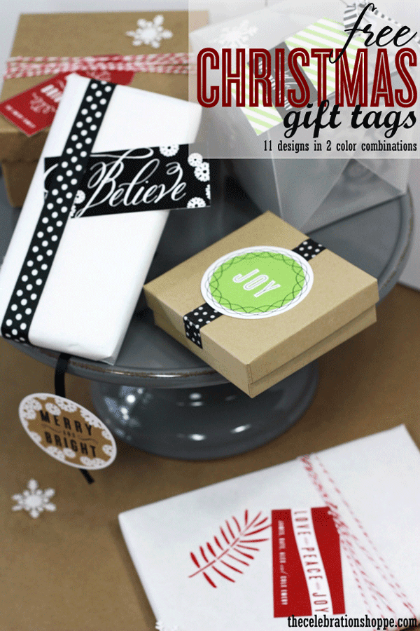 free printable holiday gift tags, free printable