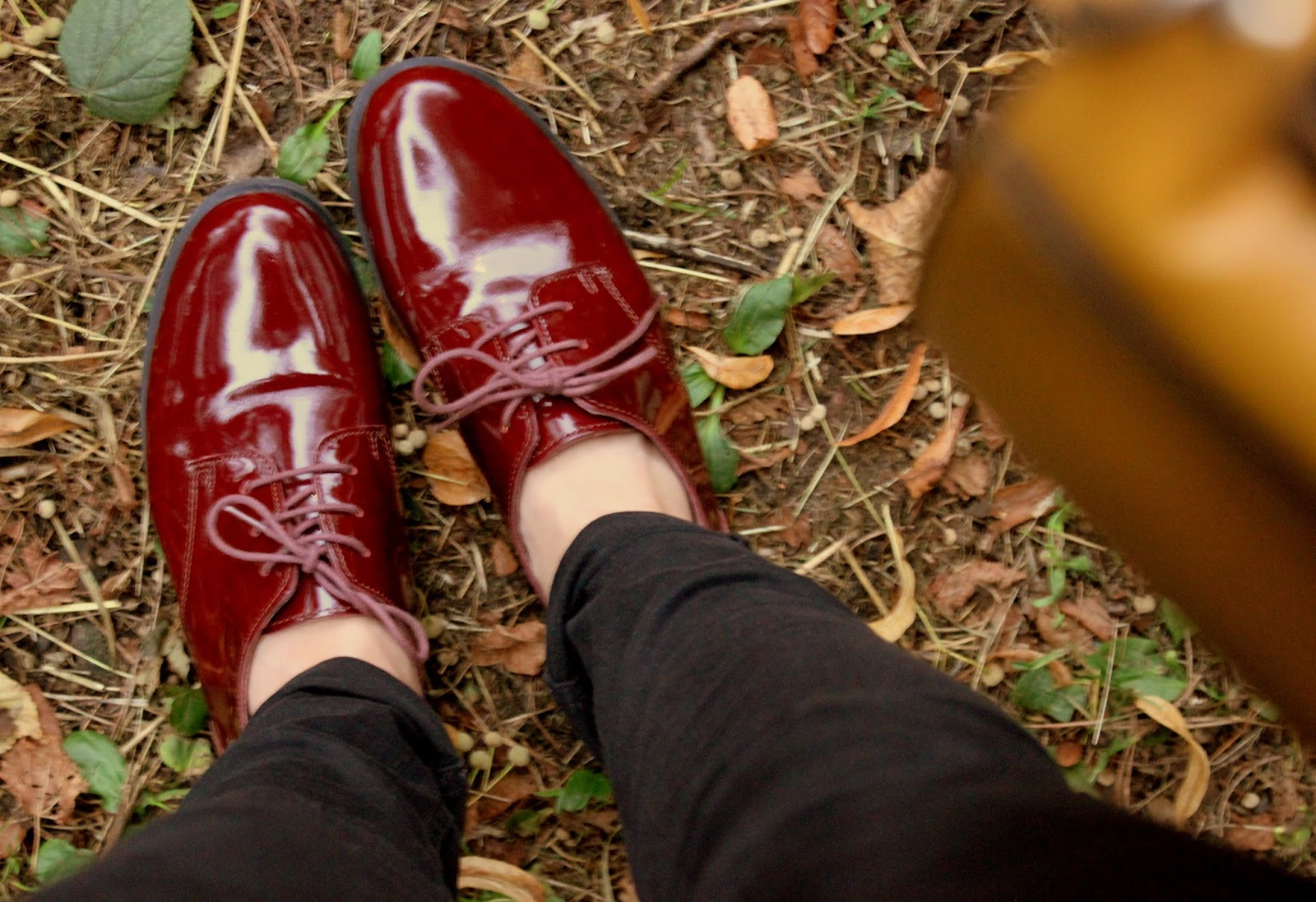 red brogues outfit