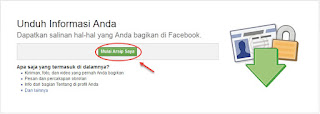 cara mengunduh data facebook