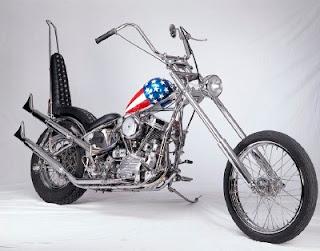 EASY RIDER MOTORCYCLE - EASY RIDER PETER FONDA - EASY RIDER BIKE -Chopper Captain America / Harley Davidson Easy Rider - Easy Rider Bike - Easy Rider Motorcyle- CHOPPER HANDMADE