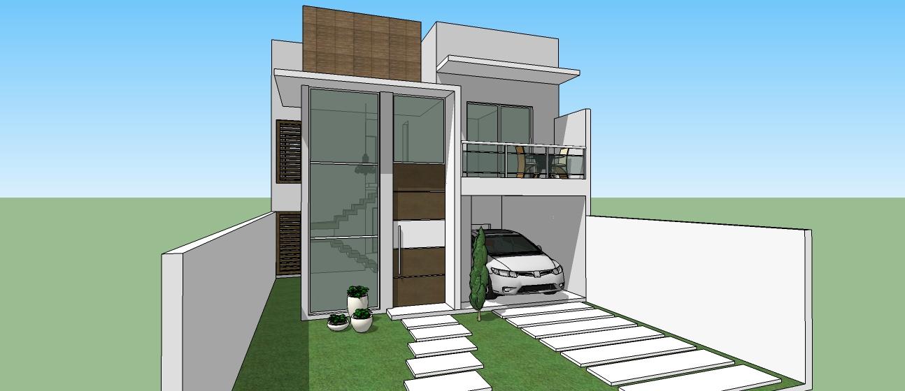 Rodrigo nogueira projetos para voc se inspirar for Fachadas duplex minimalistas