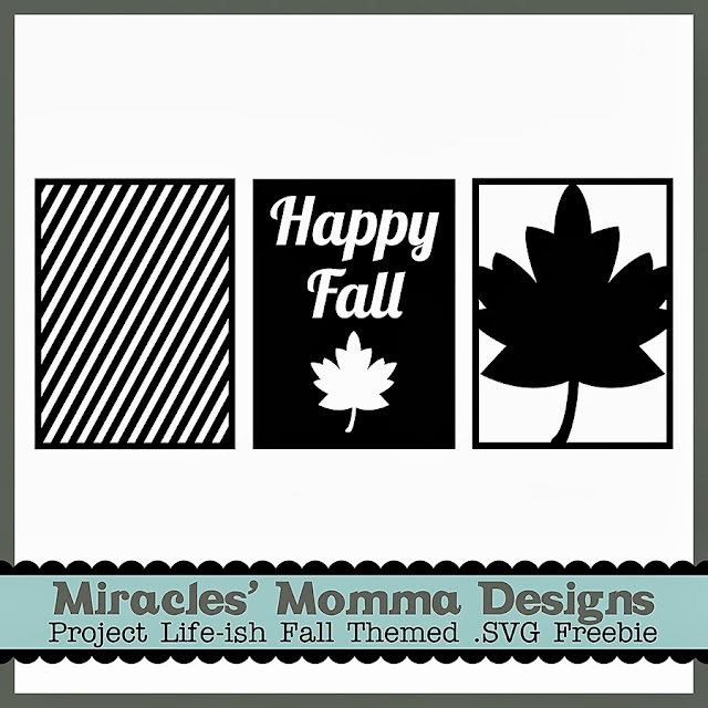 Project Life_Free SVG File_Fall Leaf_Card