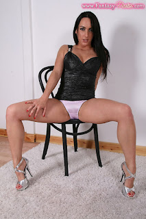 Legs Spread showing off those hot pink panties