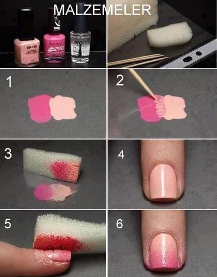 Как в домашних условиях накрасить ногти двумя цветами