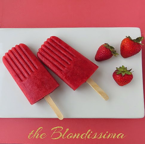 Balsamic Strawberry Popsicles - The Blondissima