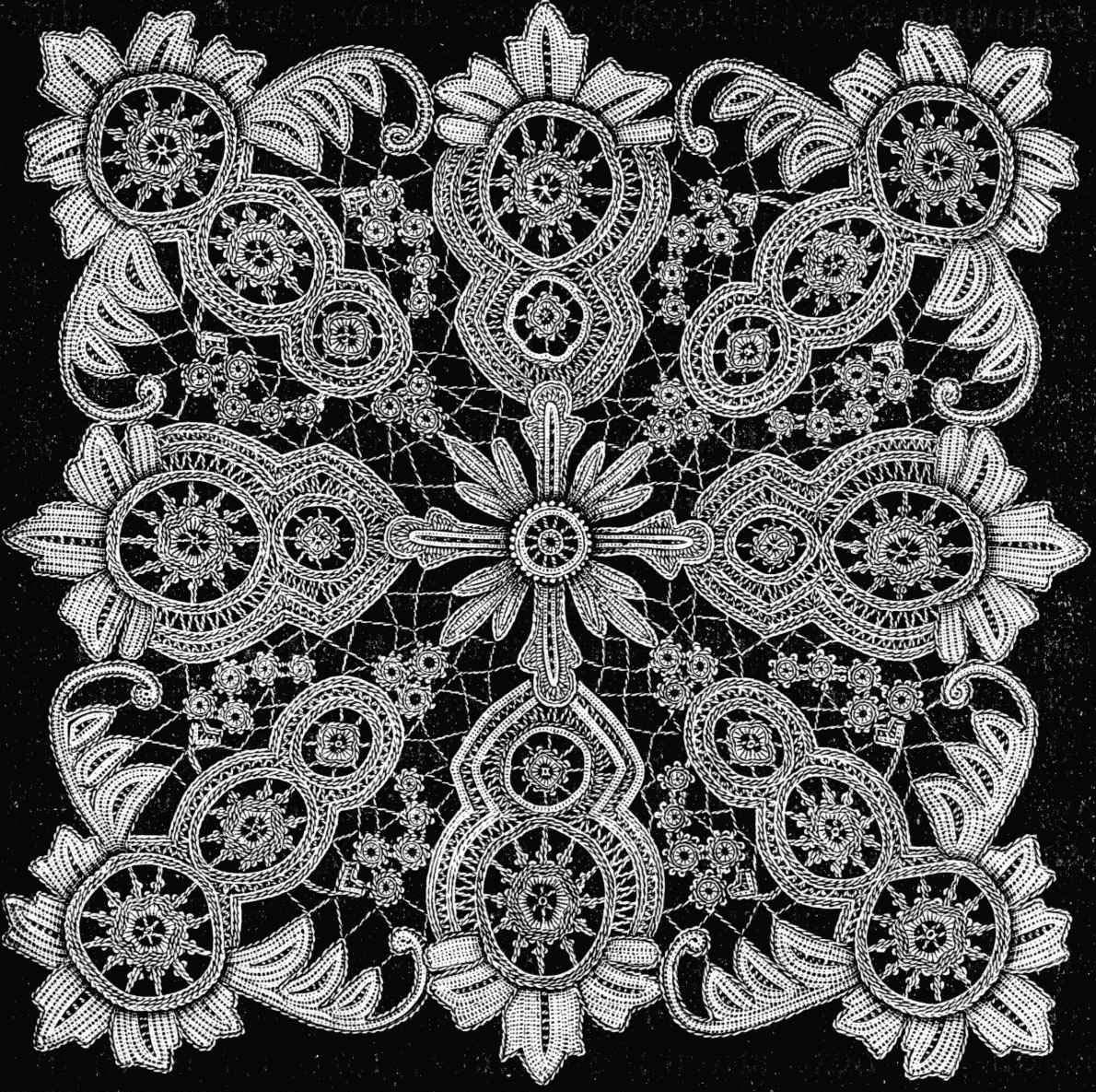 Motif Knitting Patterns : lace pattern-Knitting Gallery