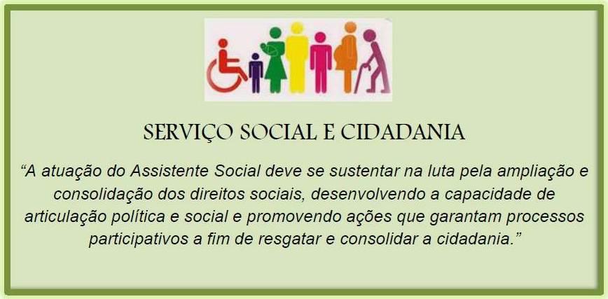 SERVIÇO SOCIAL  E CIDADANIA