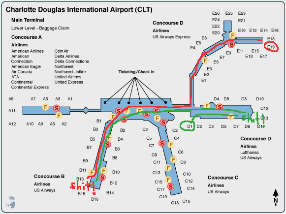 Aa Guide To Clt The Charlotte Douglas Airport Lus