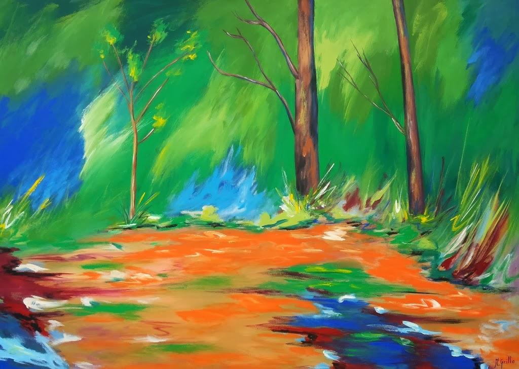 Pintura moderna y fotograf a art stica paisajes for Imagenes de cuadros abstractos faciles