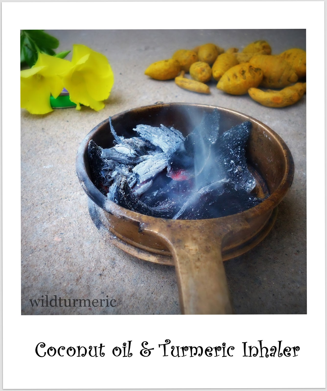 Homemade Natural Turmeric and Coconut Oil Inhaler