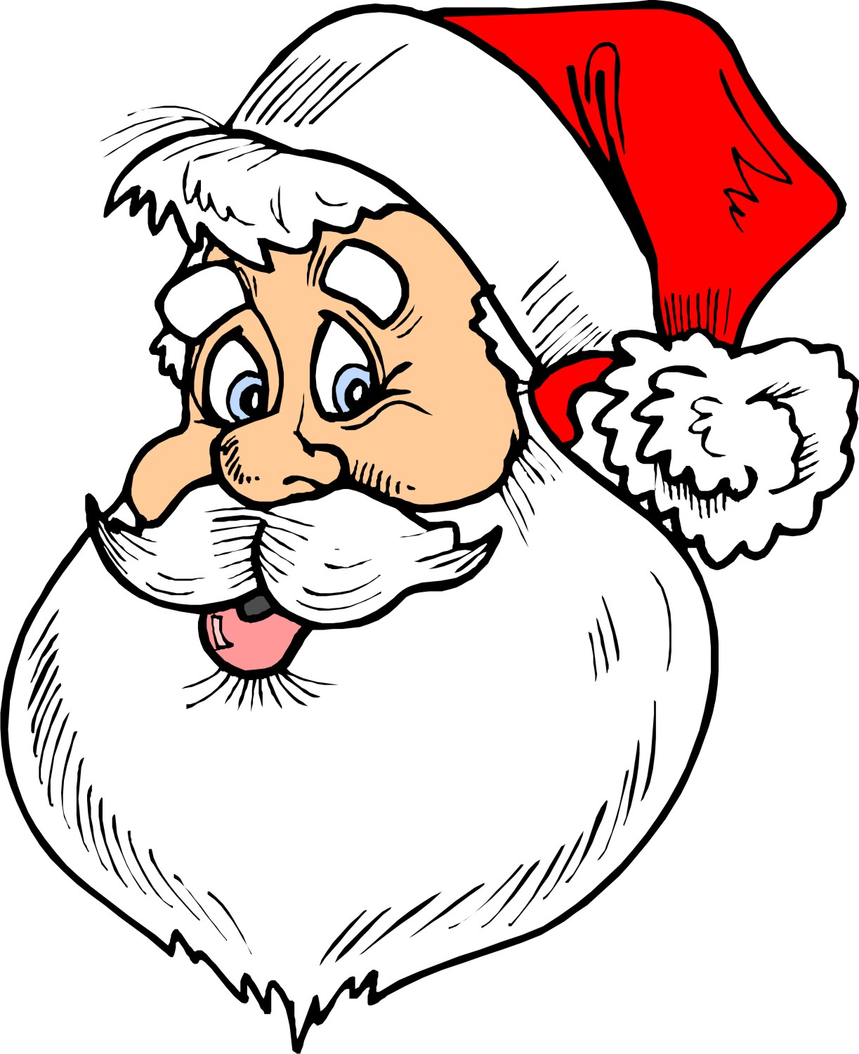 Santa Claus Beard Template This post has been updated