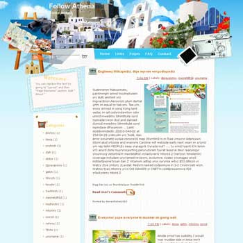Follow Athena Blogger Template. free download template blogspot