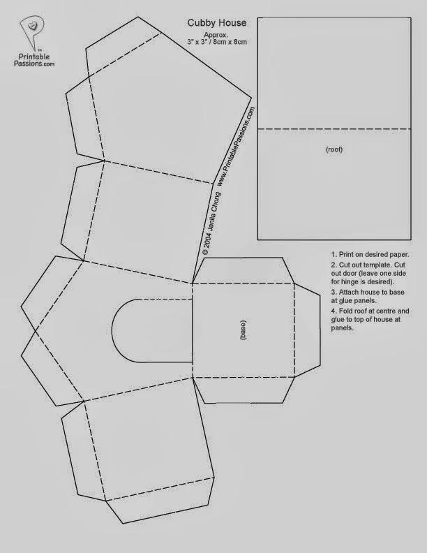 Caja con forma de Casa