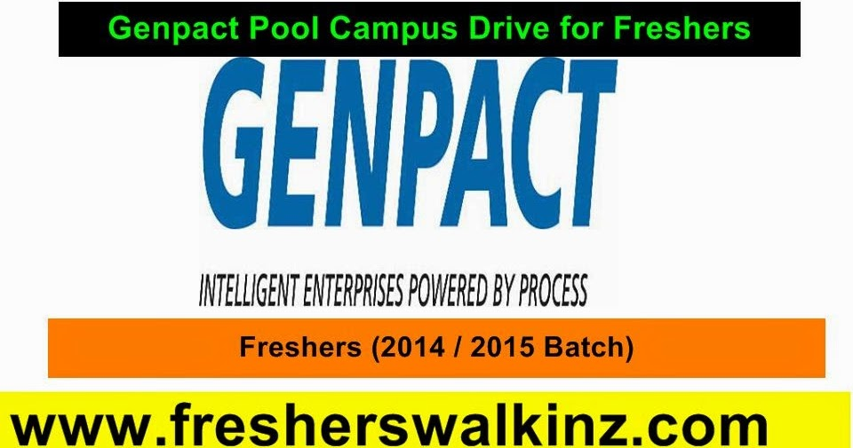 Genpact Mega Walk In For Freshers Trainee Entry Level