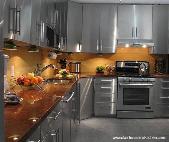 Arquitectura De Casas Cocina Completa En Acero Inoxidable