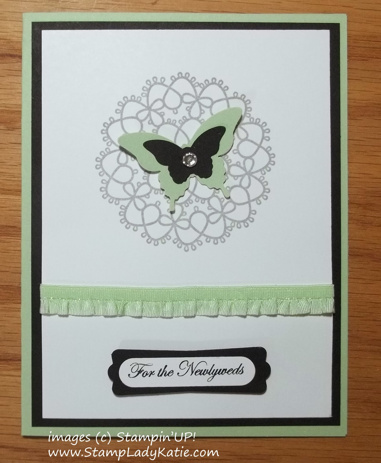 wedding card made with Stampin'UP!'s Delicate Doilies stamp set.