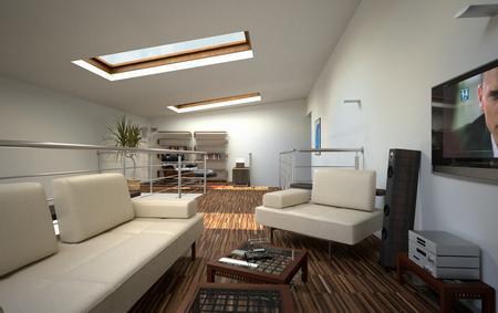 Decoraci n interior dupl x cocinas modernas - Escaleras para duplex ...