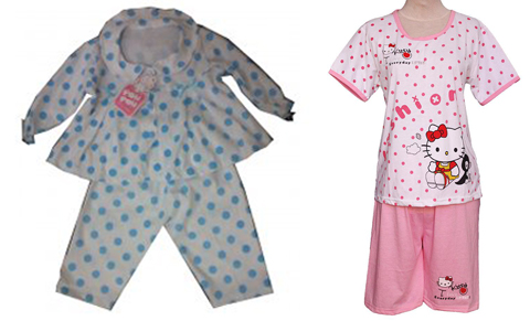 contoh baju tidur anak perempuan