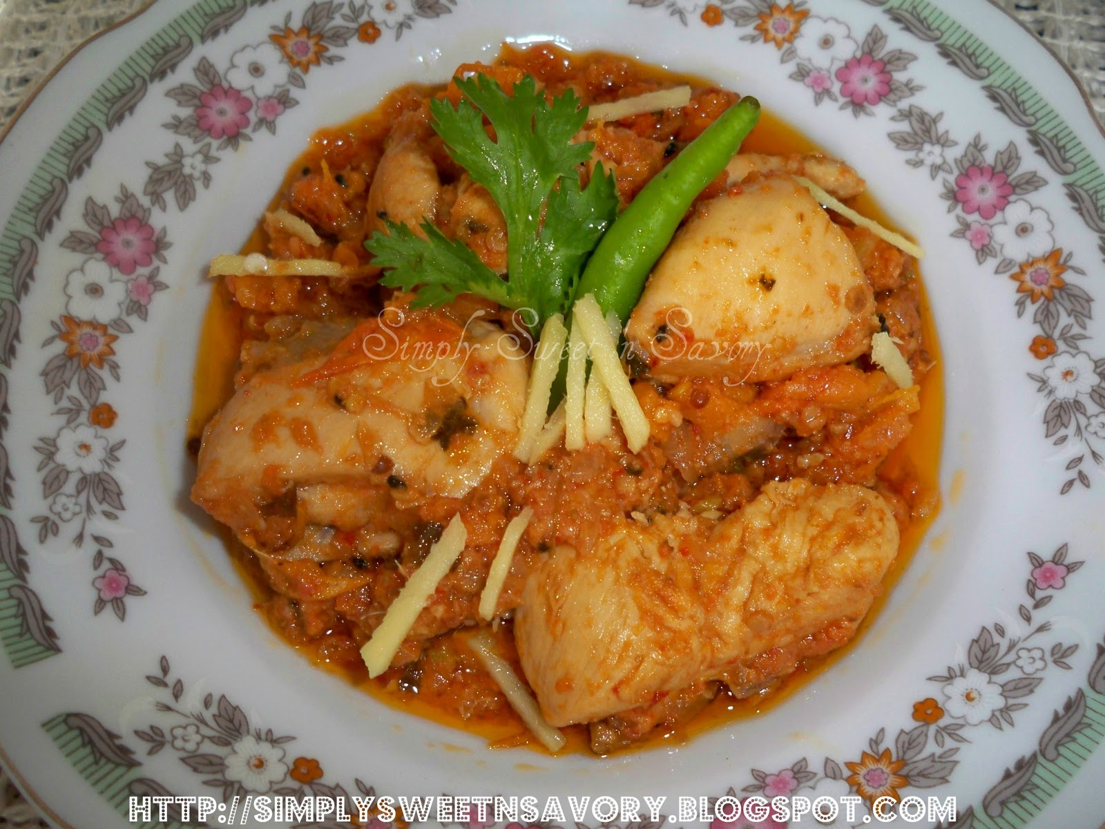 Simply Sweet 'n Savory: Chicken Karahi 2