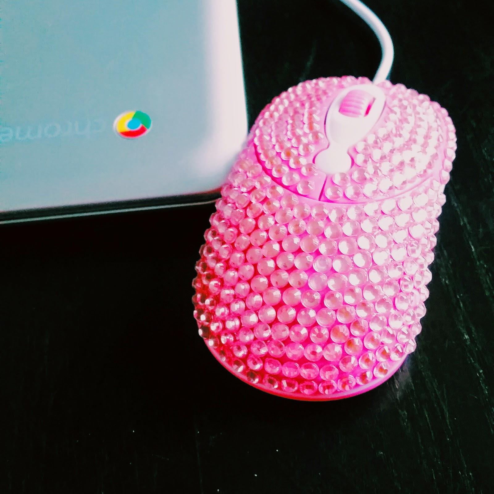 blingbling muis roze swarovski