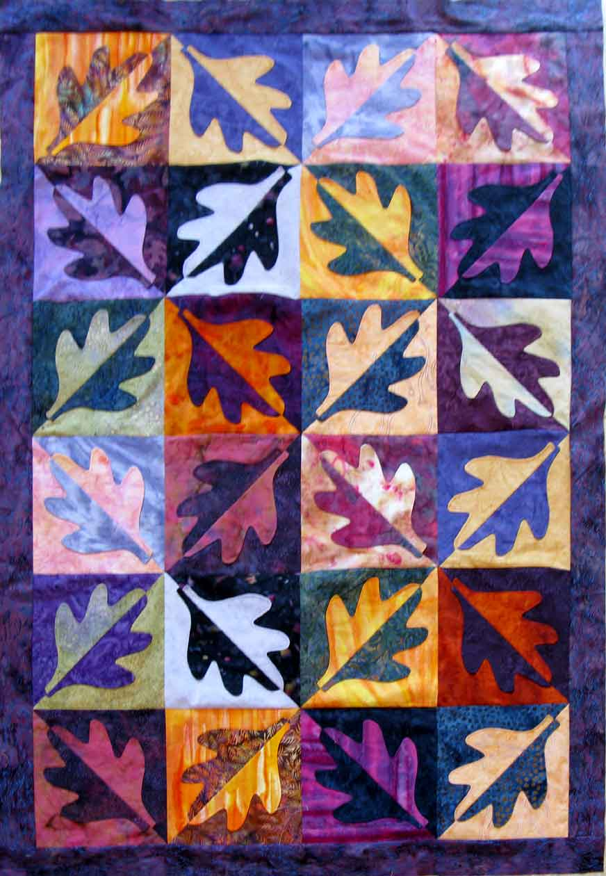Selvage Blog: Leaf Quilt by Carla Barrett