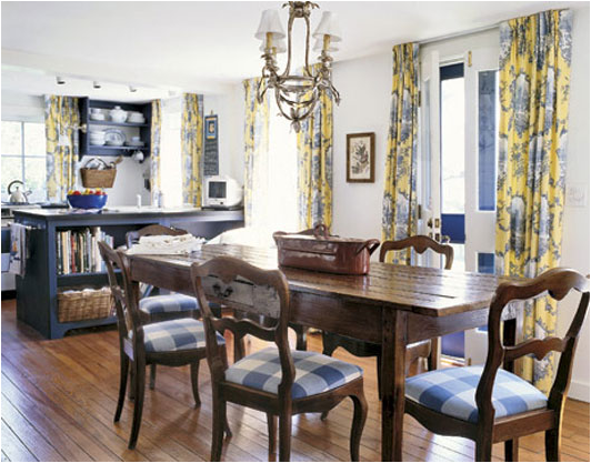 French country dining room design ideas room design for Dining room decorating ideas pictures