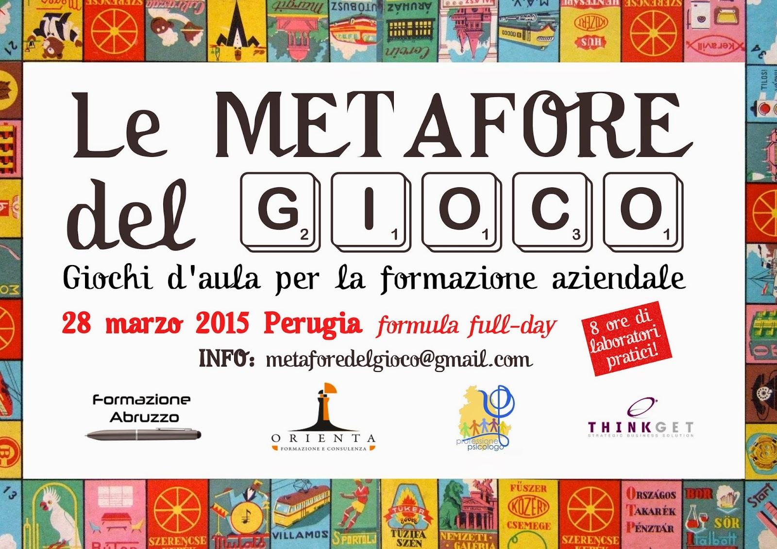 le metafore del gioco, 28 marzo 2015 Perugia