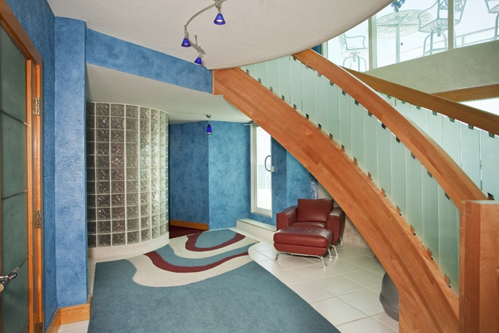 Stairs in Modern villa in Tampa Bay