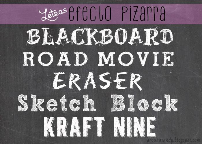 Letras pizarra gratis free sketchboard fonts
