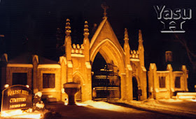 Entrance to Old Forest Cemetery at Night