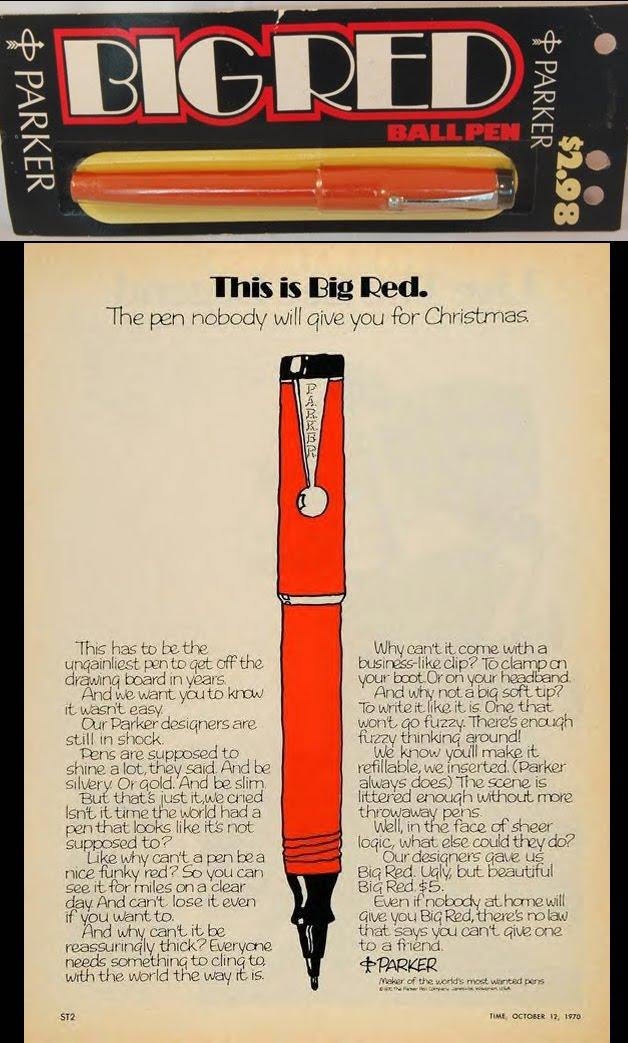 Parker Big Red Pens: