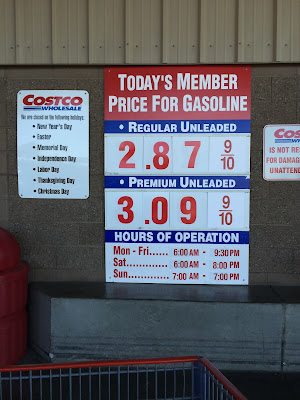 Costco gas for Apr. 19, 2015 at Redwood City, CA