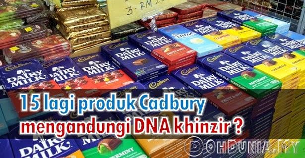 Benarkah Ada 15 Lagi Produk Coklat Cadbury Mengandungi DNA Khinzir ?