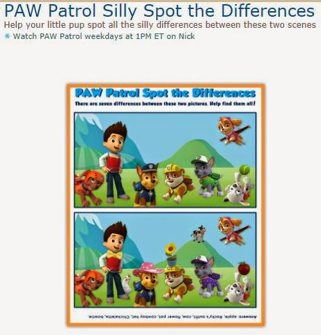 image relating to Spot the Difference Printable named Paw Patrol: Free of charge Printable Destination the Distinctions. Oh My