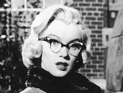 Marilyn Monroe in catseye glasses