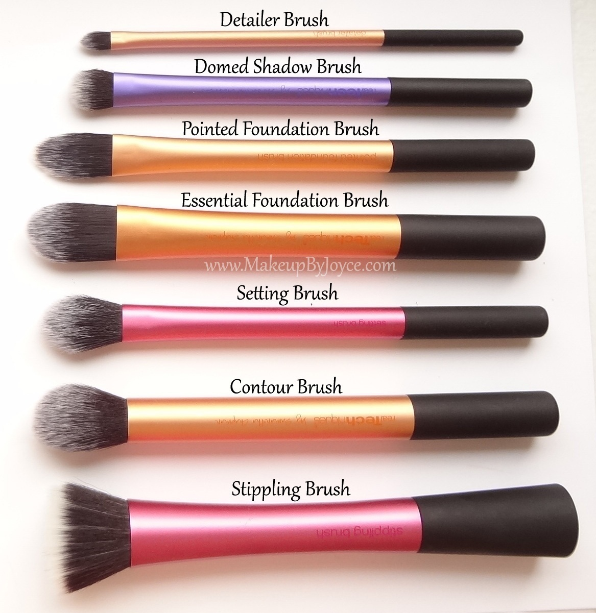 makeupbyjoyce review comparison real techniques brush collection. Black Bedroom Furniture Sets. Home Design Ideas