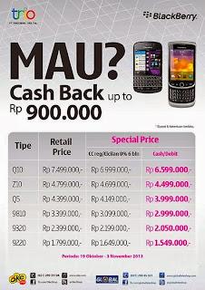 Promo BlackBerry Cashback Hingga Rp 900.000