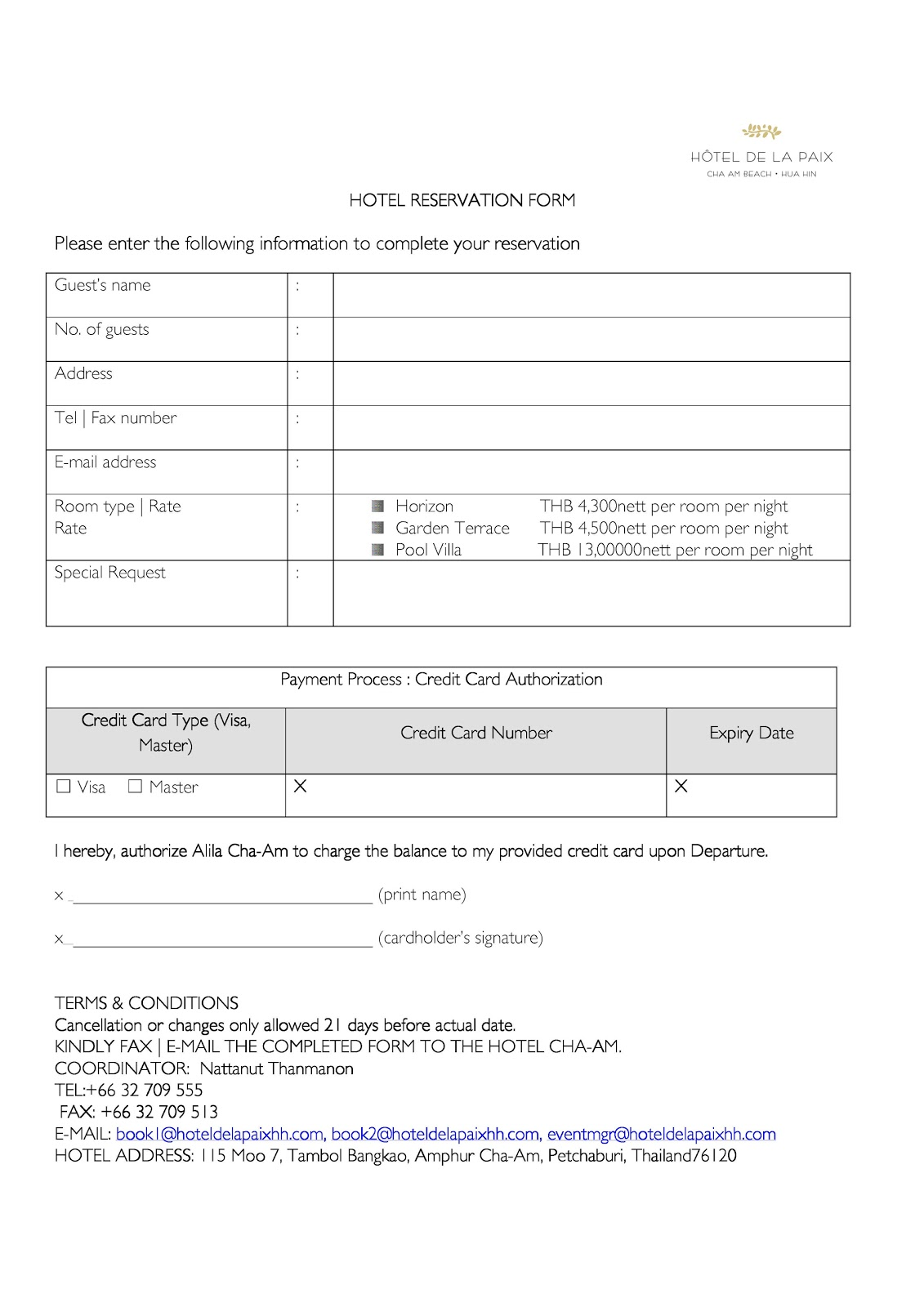 Candy nicks wedding hotel reservation form completed form to ms nattanut thanmanon also please indicate in the special request section the total of nights you intend to stay at the hotel thecheapjerseys Choice Image